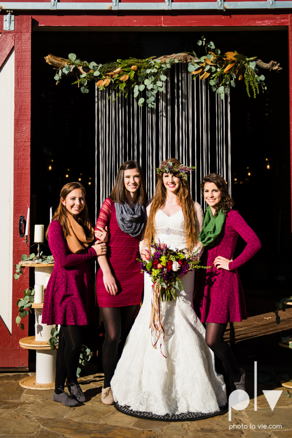 Howell Family Farms Styled Wedding session winter boho rustic floral barn architecture bride dainty dahlias creme cake bliss Lane Love  lace masculine cigar cat banner yarn spool Sarah Whittaker Photo La Vie-66.JPG