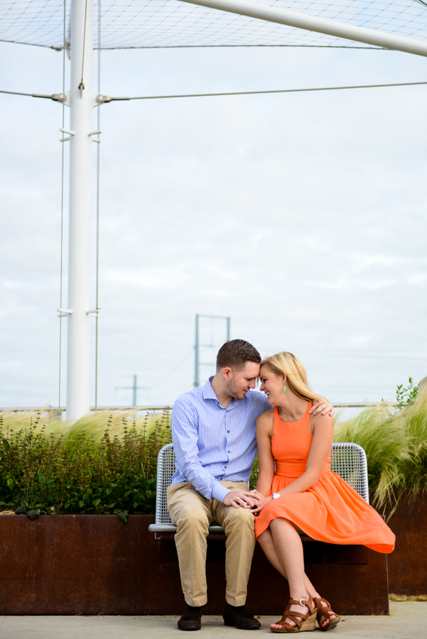 Photo La Vie Sarah Whittaker engagement photography DFW Dallas Fort Worth Hunt Hill Bridge downtown couple summer-1.JPG