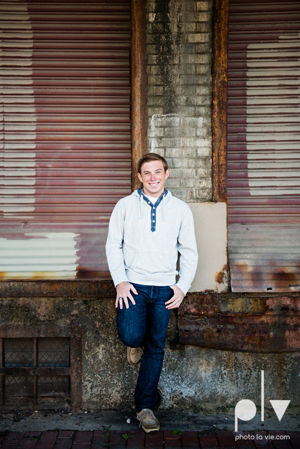 Andrew high school football player senior photos pictures downtown Fort Worth Trinity Park fall winter session sweater boy guy model Sarah Whittaker Photo La Vie-7.JPG