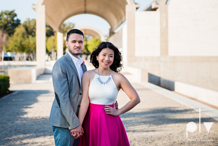Mabel Hector engagement session Fort Worth Texas The Modern Art Museum The Kimbell kahn ando piano hot pink couple engaged ring shot texture winter architecture modern Sarah Whittaker Photo La Vie-11.JPG