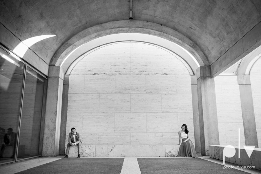 Mabel Hector engagement session Fort Worth Texas The Modern Art Museum The Kimbell kahn ando piano hot pink couple engaged ring shot texture winter architecture modern Sarah Whittaker Photo La Vie-12.JPG