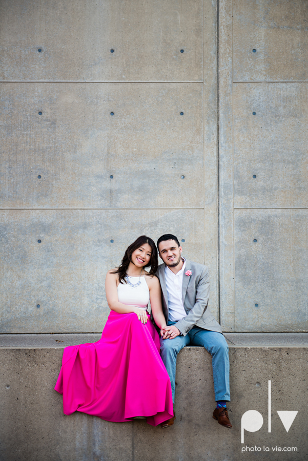 Mabel Hector engagement session Fort Worth Texas The Modern Art Museum The Kimbell kahn ando piano hot pink couple engaged ring shot texture winter architecture modern Sarah Whittaker Photo La Vie-15.JPG