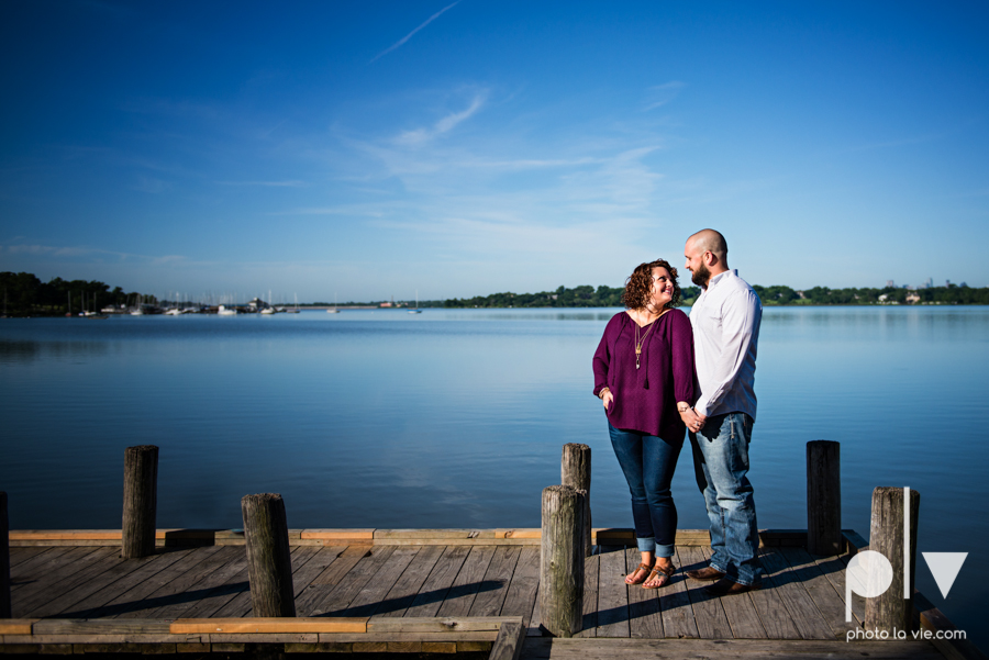 engagement session DFW couple Dallas bishiop arts district white rock lake summer outdoors suitcase docks water trees urban walls colors vines emporium pies Sarah Whittaker Photo La Vie-4.JPG