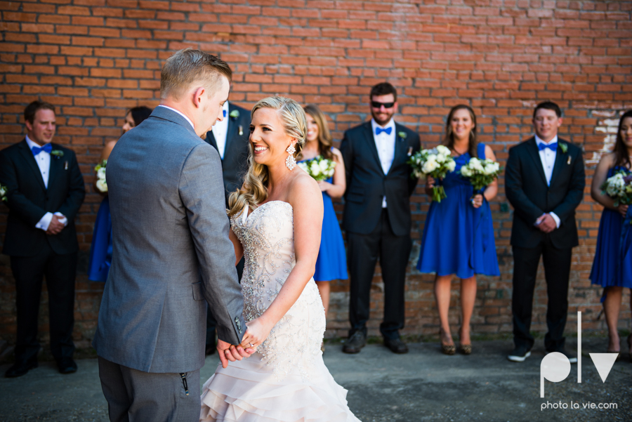 alyssa adam schroeder wedding mckinny cotton mill dfw texas outdoors summer wedding married pink dress vines walls blue lights Sarah Whittaker Photo La Vie-14.JPG