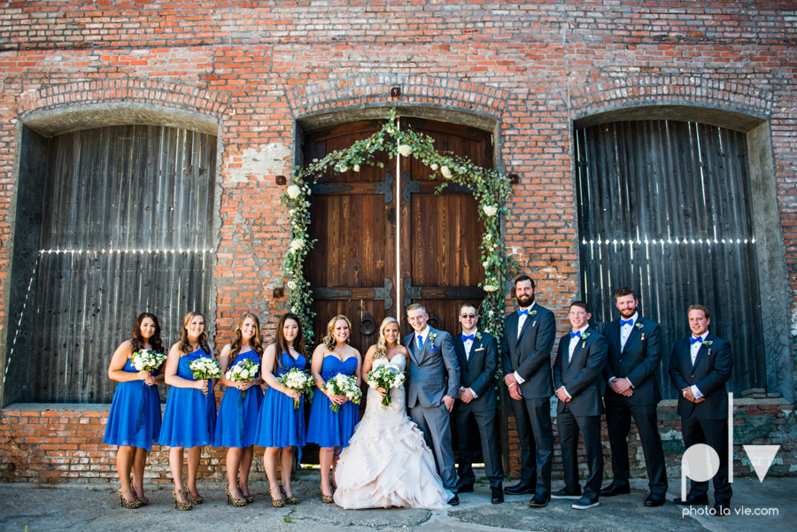 alyssa adam schroeder wedding mckinny cotton mill dfw texas outdoors summer wedding married pink dress vines walls blue lights Sarah Whittaker Photo La Vie-15.JPG