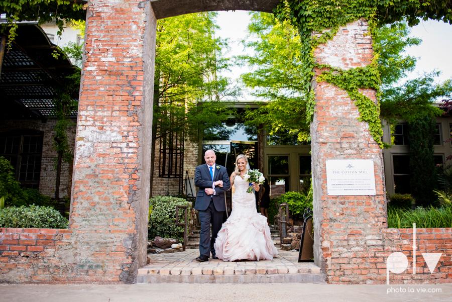 alyssa adam schroeder wedding mckinny cotton mill dfw texas outdoors summer wedding married pink dress vines walls blue lights Sarah Whittaker Photo La Vie-30.JPG
