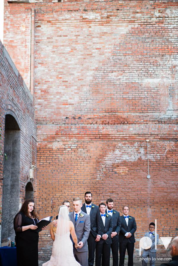 alyssa adam schroeder wedding mckinny cotton mill dfw texas outdoors summer wedding married pink dress vines walls blue lights Sarah Whittaker Photo La Vie-33.JPG