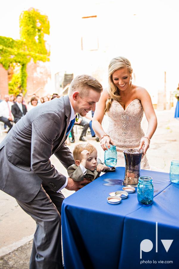 alyssa adam schroeder wedding mckinny cotton mill dfw texas outdoors summer wedding married pink dress vines walls blue lights Sarah Whittaker Photo La Vie-36.JPG