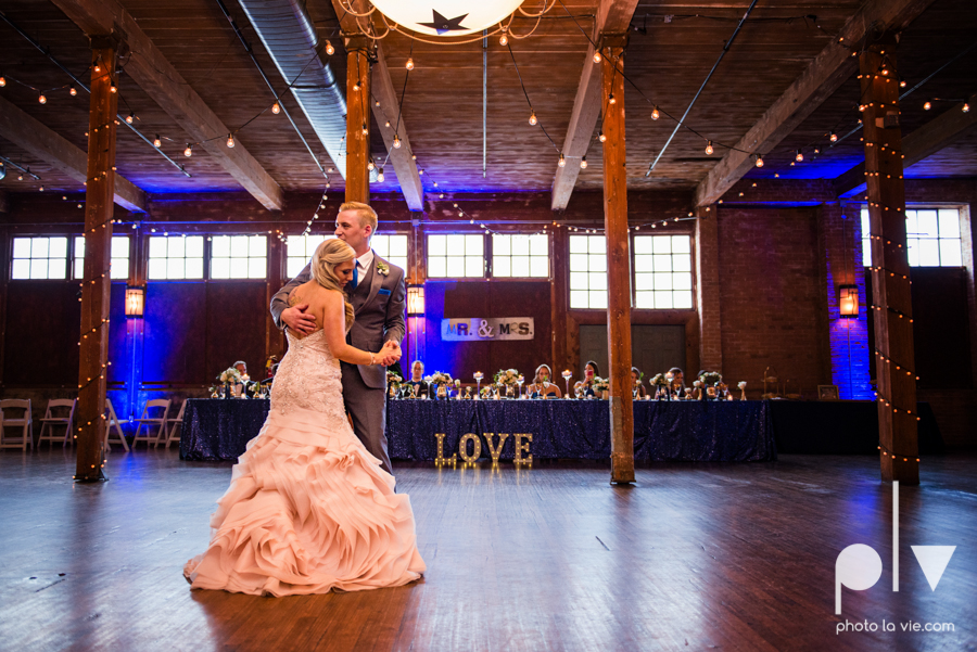 alyssa adam schroeder wedding mckinny cotton mill dfw texas outdoors summer wedding married pink dress vines walls blue lights Sarah Whittaker Photo La Vie-46.JPG