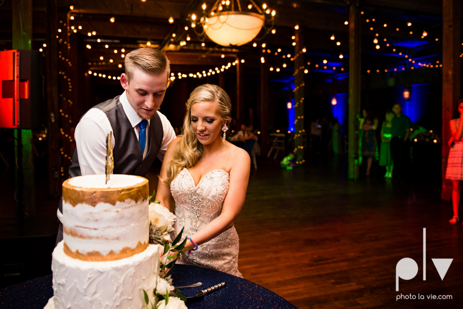 alyssa adam schroeder wedding mckinny cotton mill dfw texas outdoors summer wedding married pink dress vines walls blue lights Sarah Whittaker Photo La Vie-51.JPG