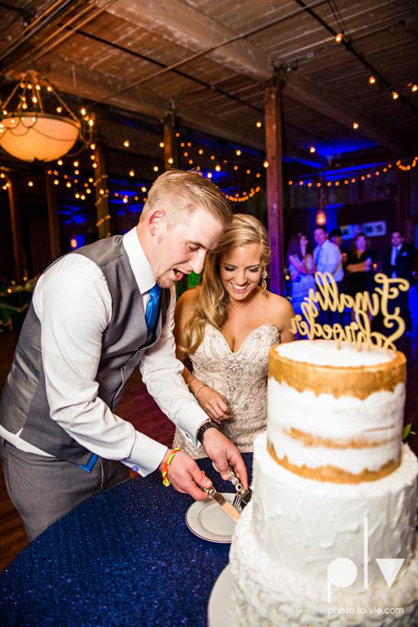 alyssa adam schroeder wedding mckinny cotton mill dfw texas outdoors summer wedding married pink dress vines walls blue lights Sarah Whittaker Photo La Vie-52.JPG