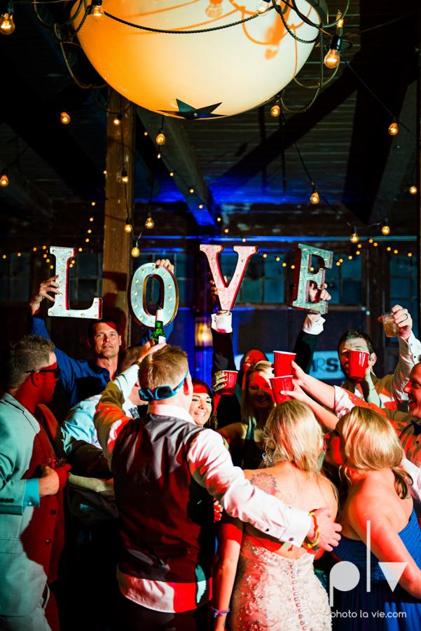 alyssa adam schroeder wedding mckinny cotton mill dfw texas outdoors summer wedding married pink dress vines walls blue lights Sarah Whittaker Photo La Vie-65.JPG