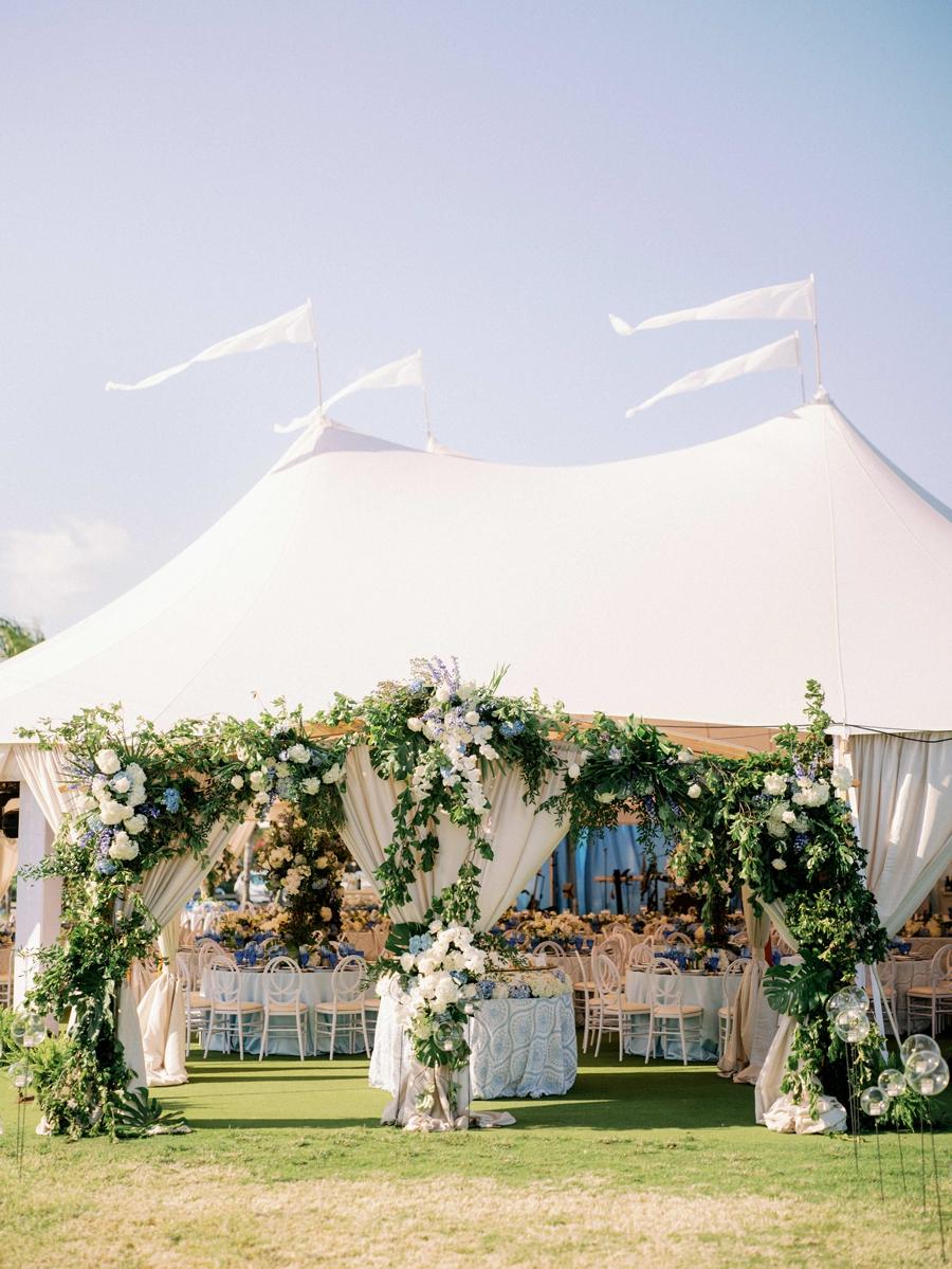 gasparilla inn tented wedding