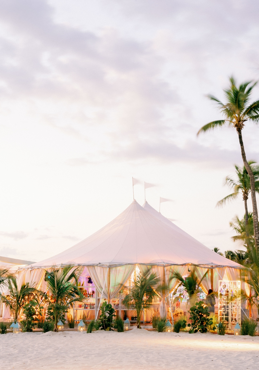 tented estate reception