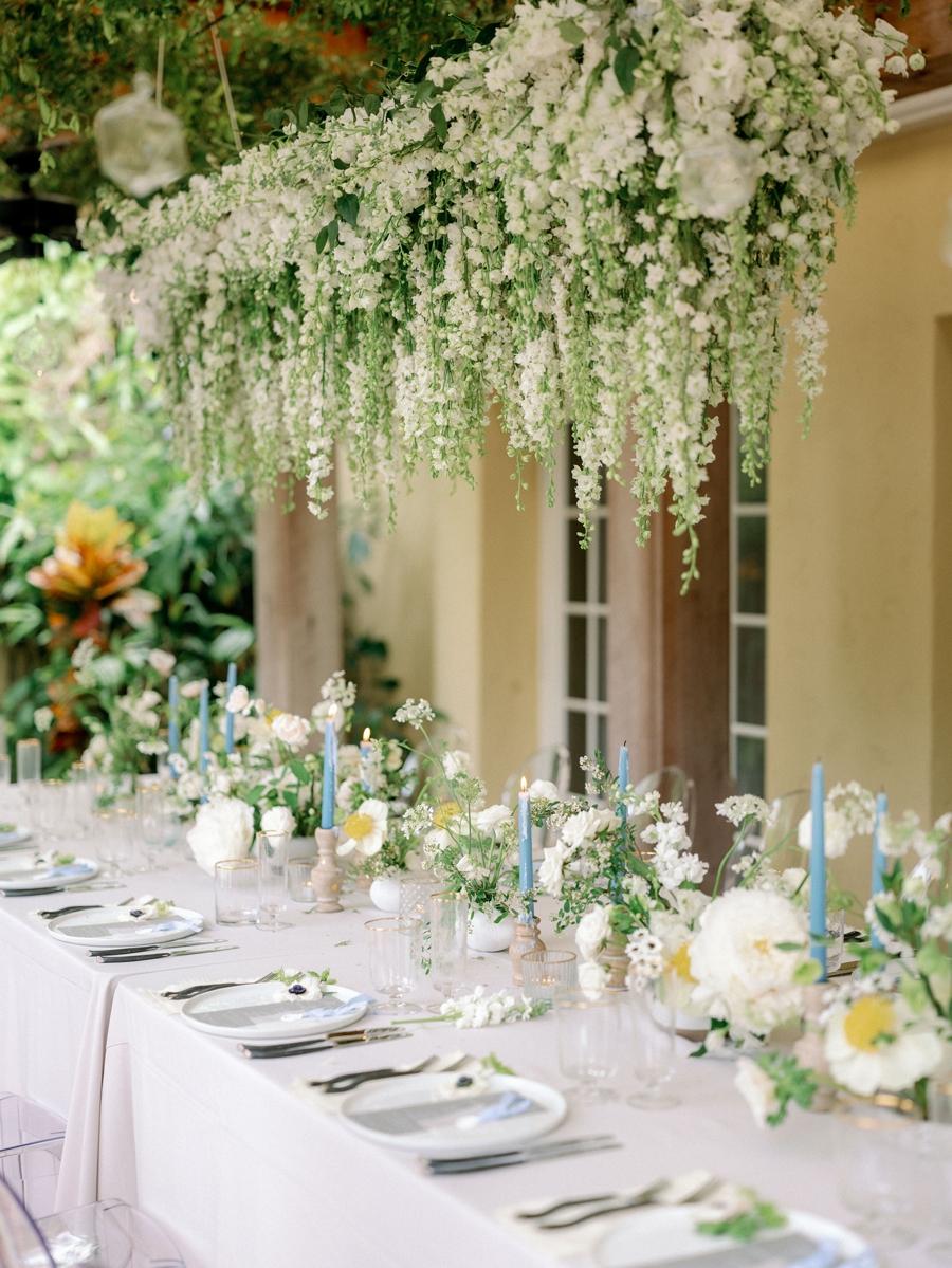 hanging greenery wedding