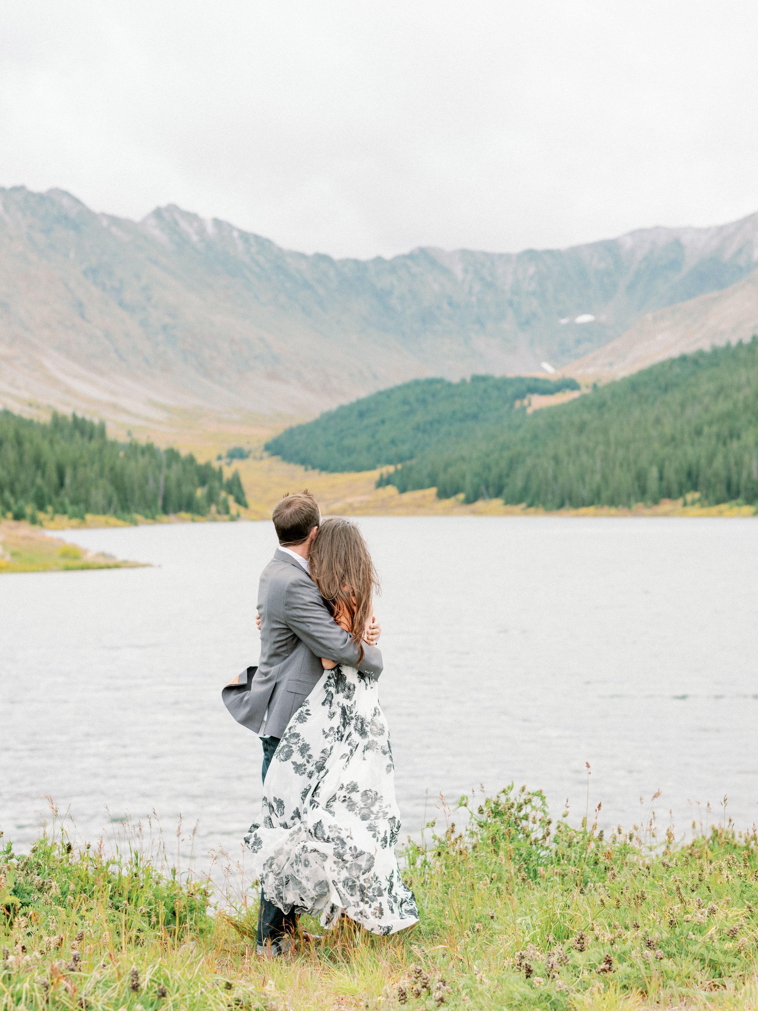 colorado mountain engagement photos