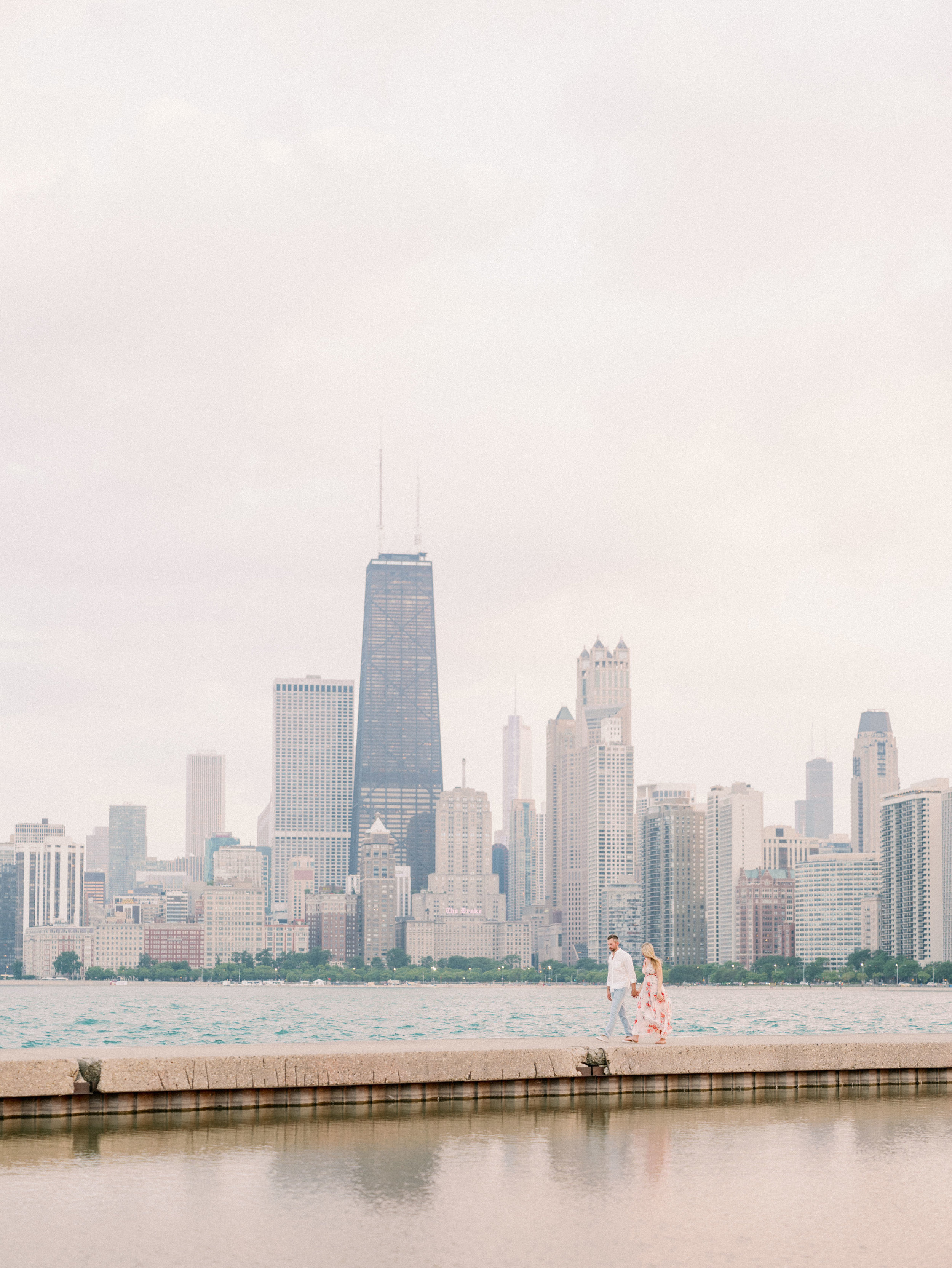 north avenue beach lincoln park engagement photography