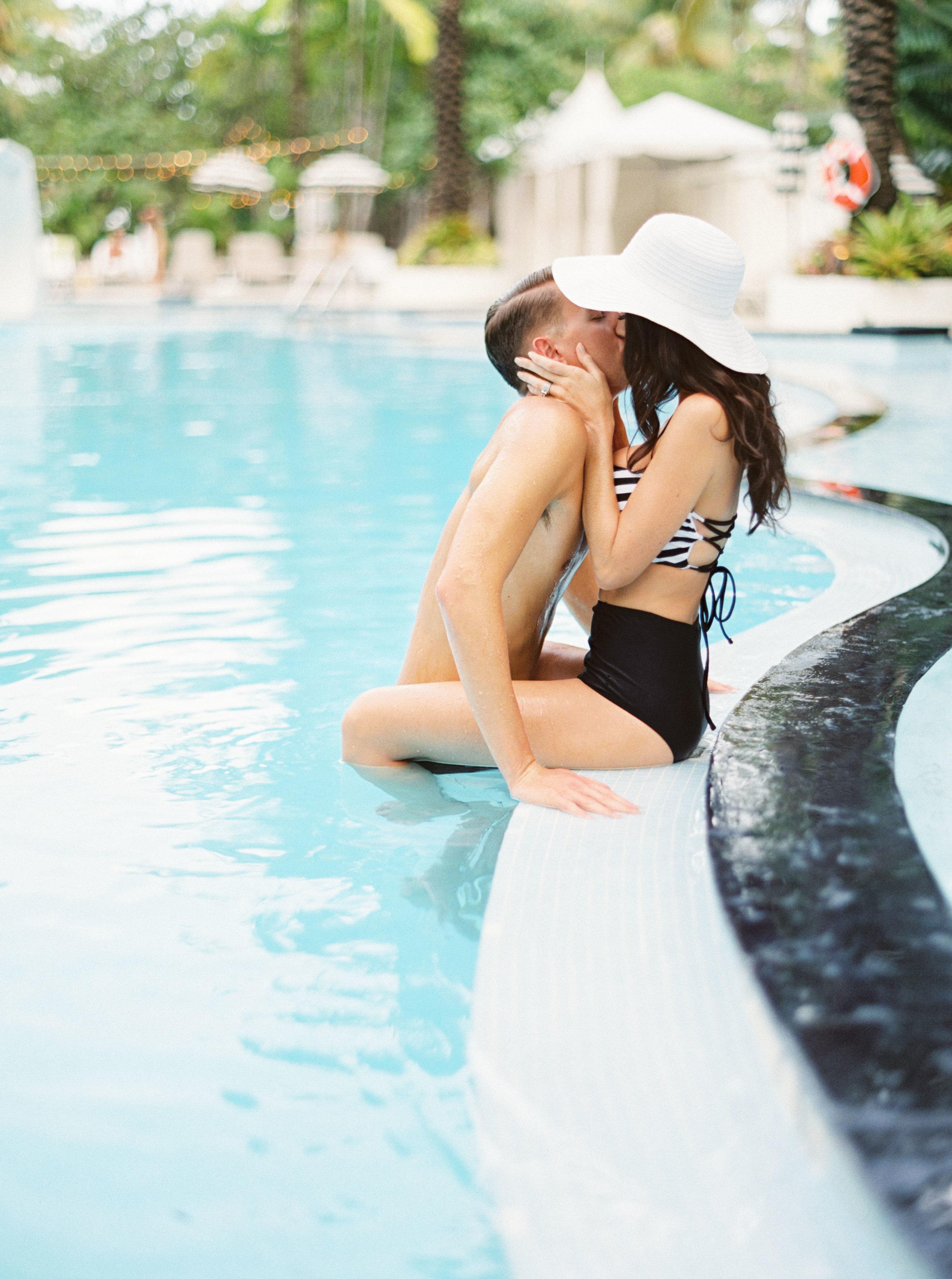 the raleigh miami beach engagement photos