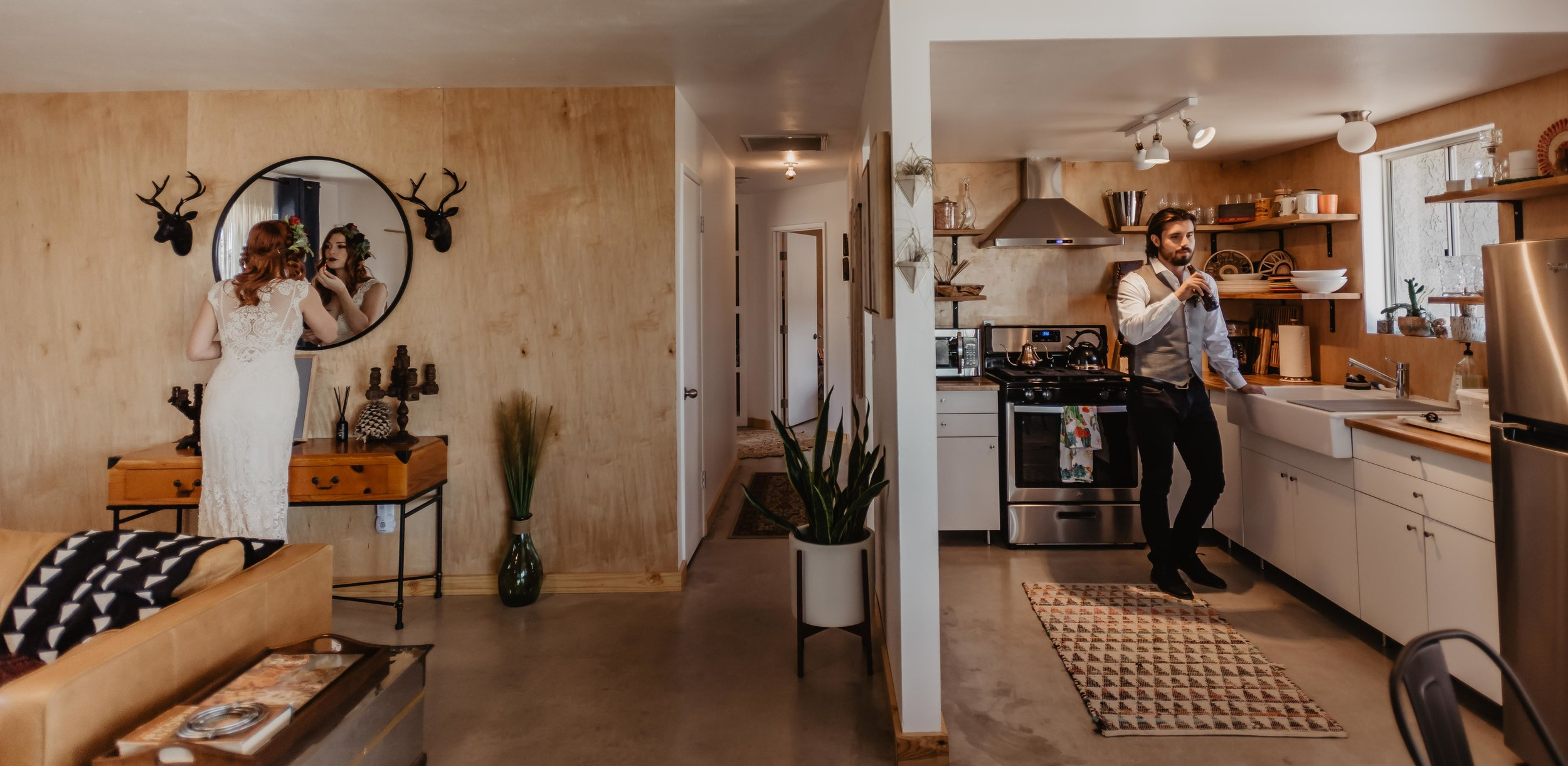 Arizona Elopement Photographer - Joshua Tree Airbnb