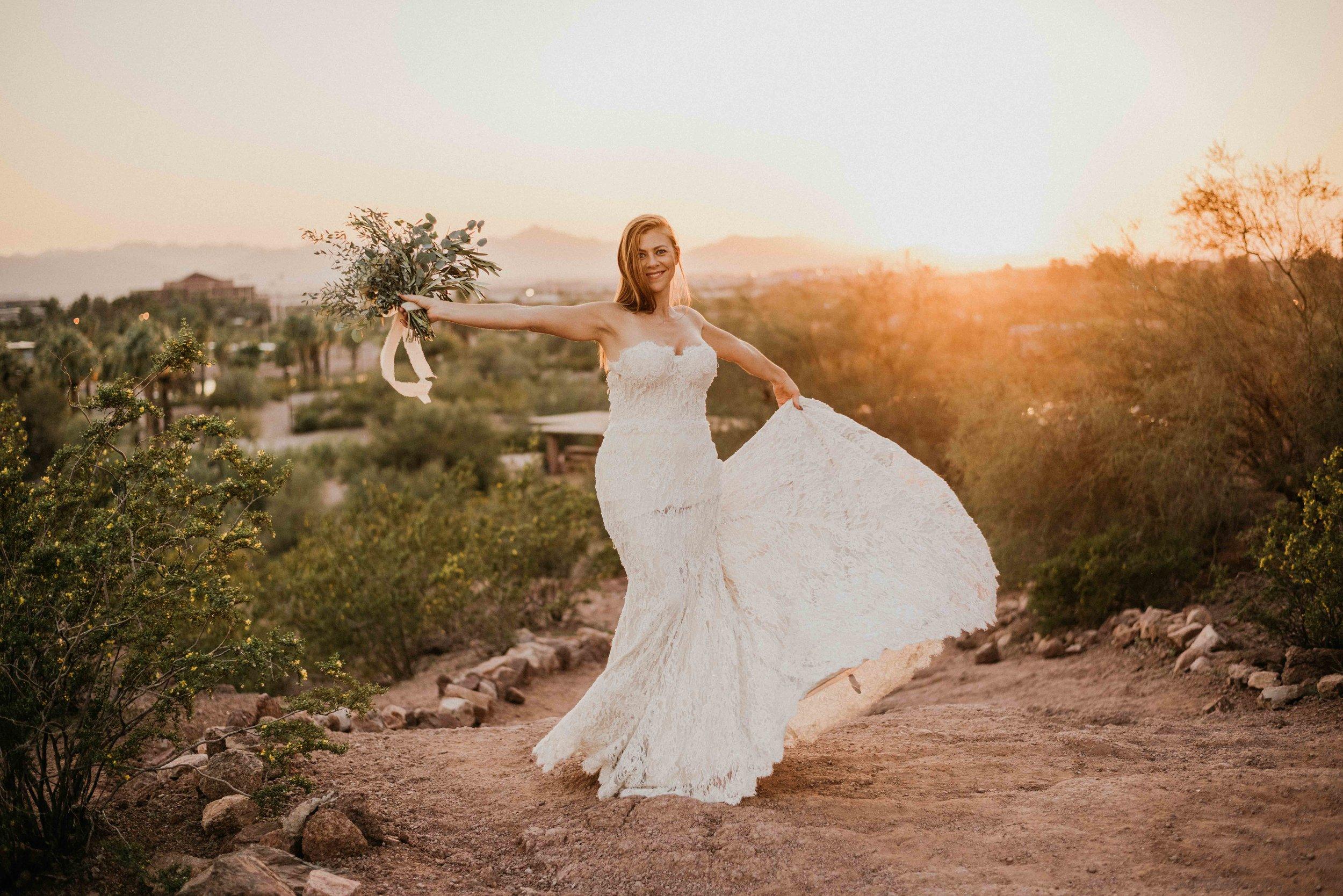 Arizona Elopement Photographer and Wedding Dress Rental