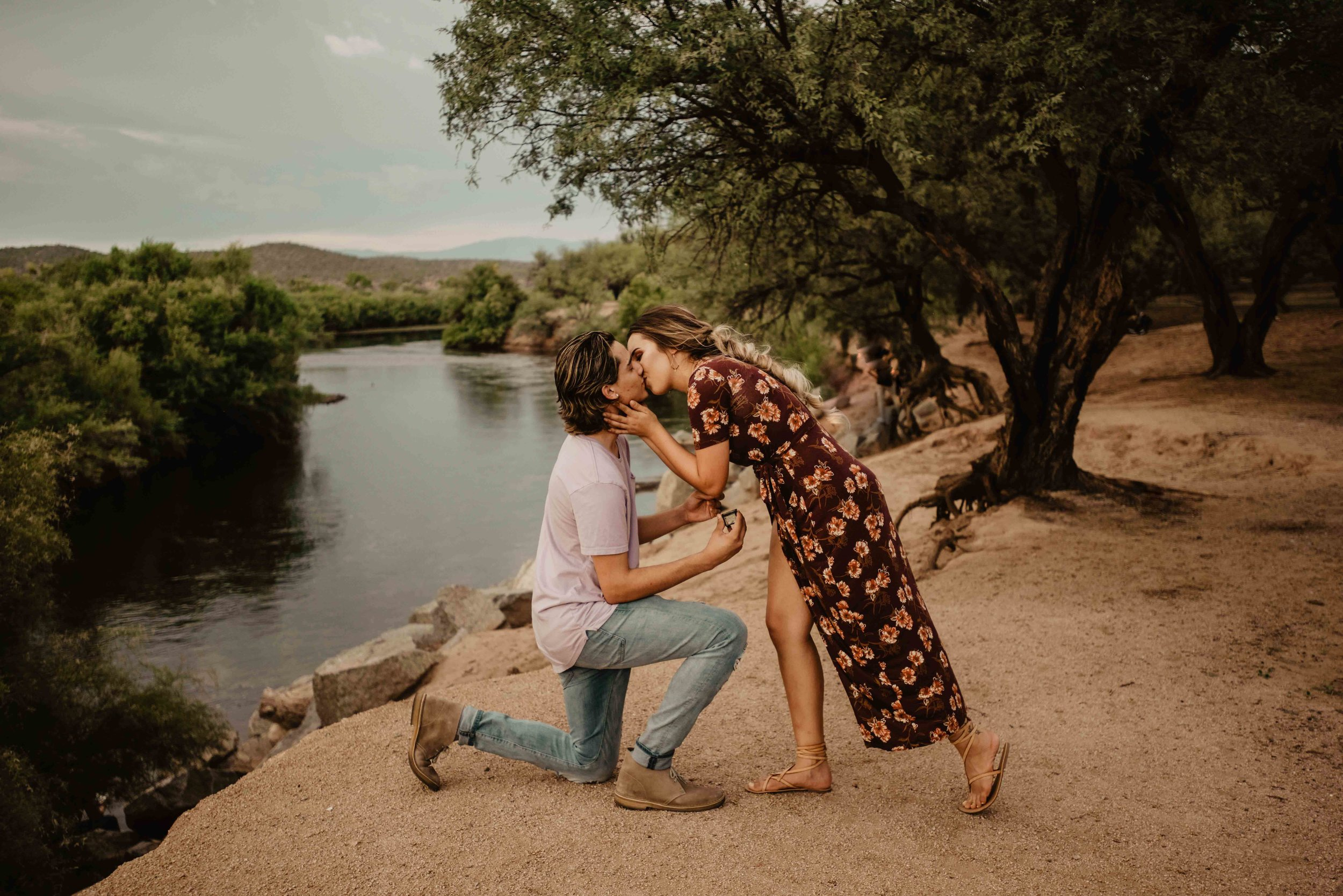 Scottsdale Engagment Photographer - Scottsdale Proposal Photographer - Winter ELopement - Arizona Salt River ELopement