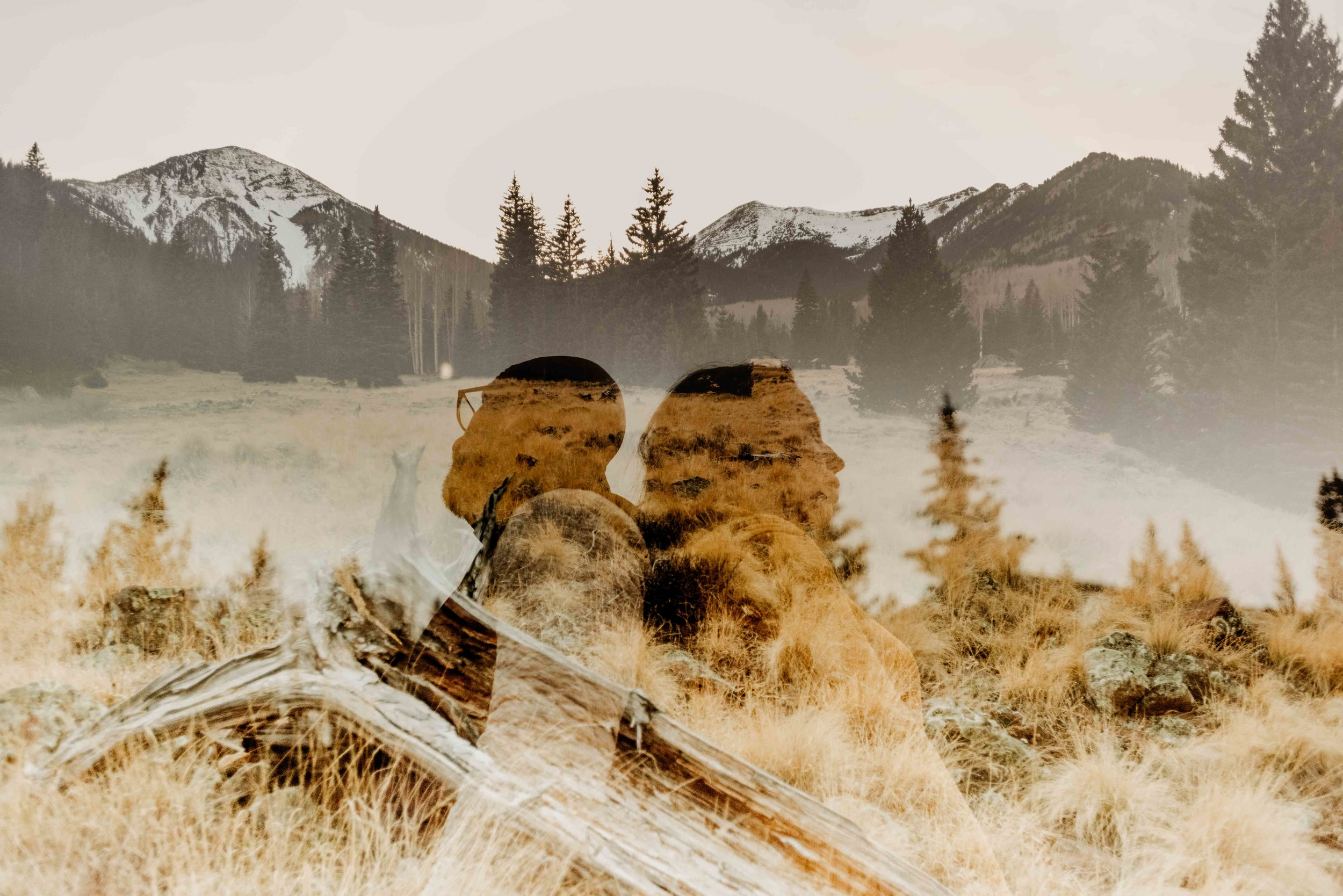 Double Exposure Flagstaff Couple's Session
