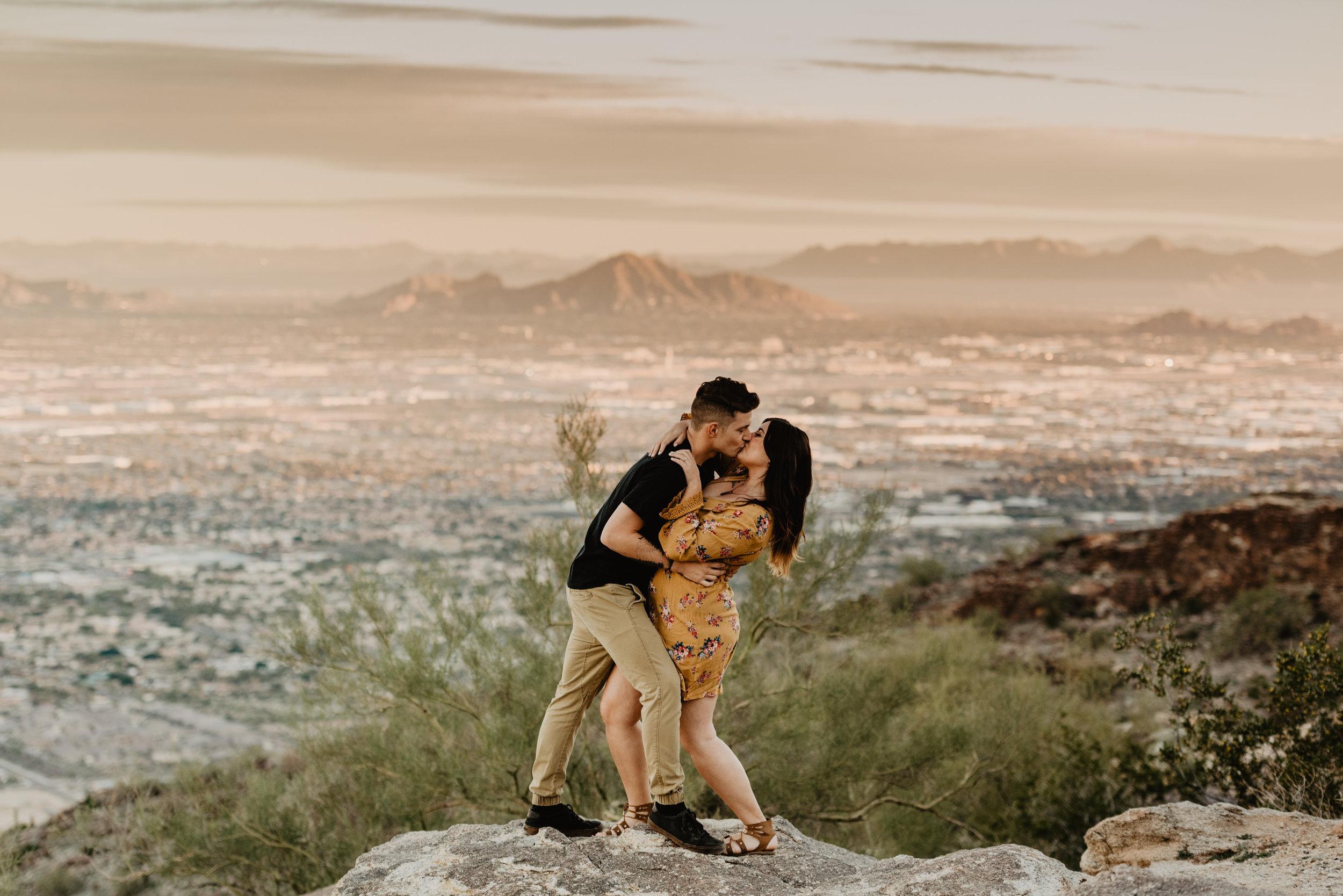 Engagement Session at Dobbins Point Phoenix - Adventure couple's session