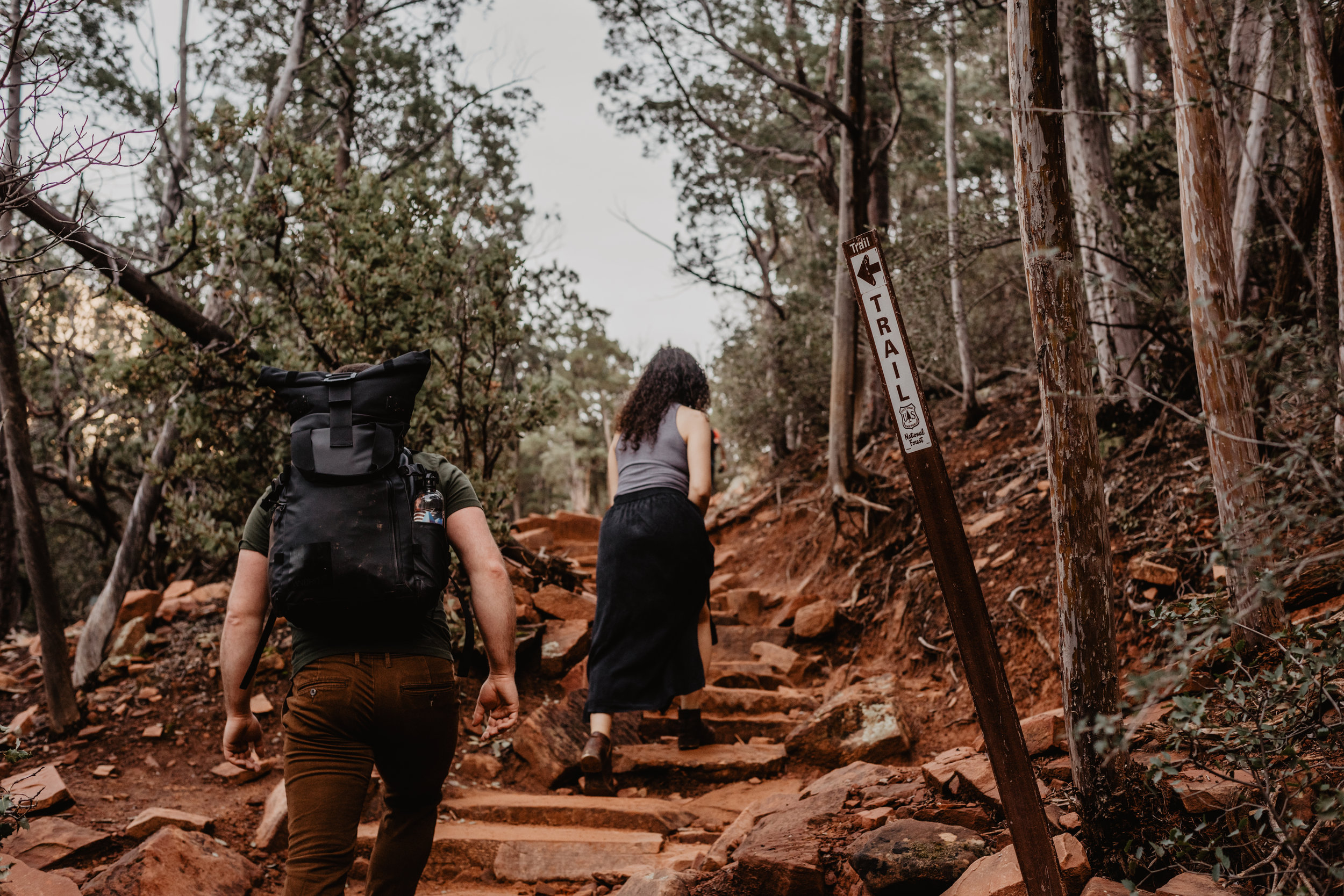 hiking couples session - adventure couples session