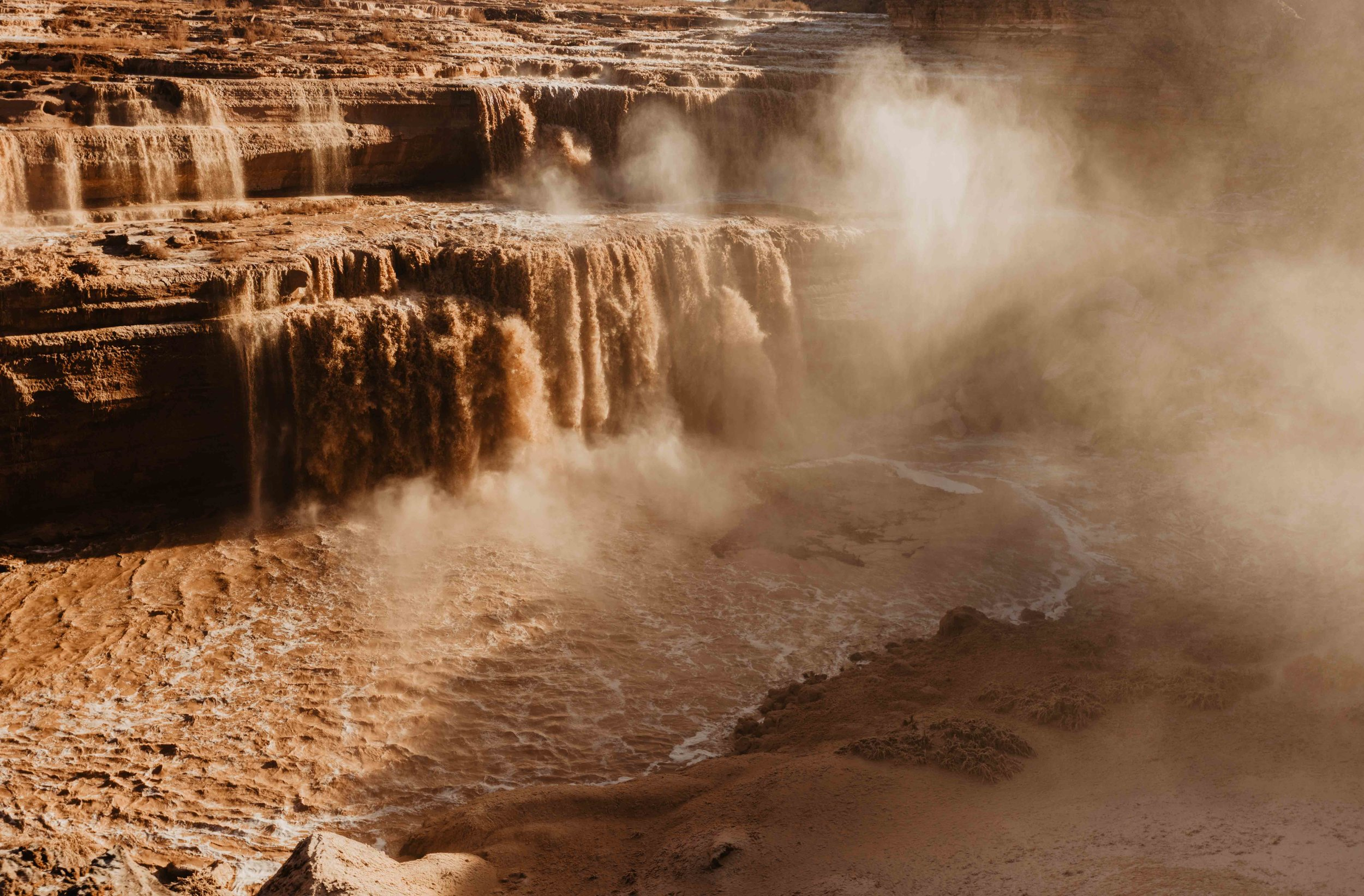 Flagstaff Elopement Photographer - Flagstaff Elopement Locations - Grand Falls in Arizona - Arizona Elopement Photographer