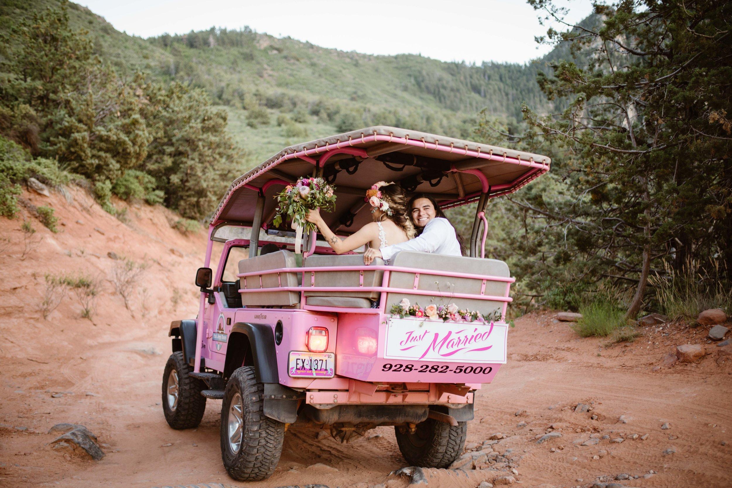 pink-jeep-merry-go-round-wedding