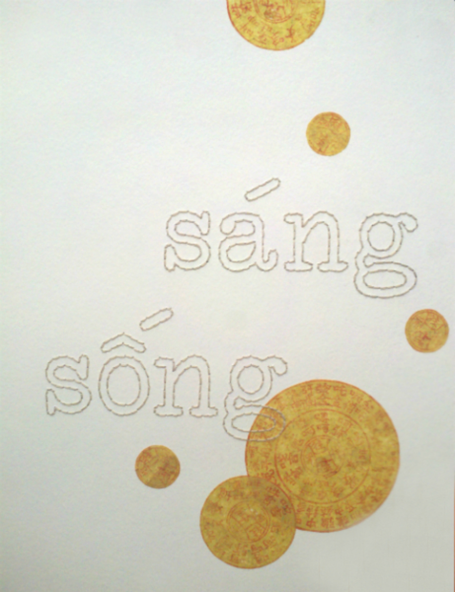 Sáng, Sóng, Sang Sông, Sang    (To Lighten, to Live, to Cross a River, to Arrive) -  detail