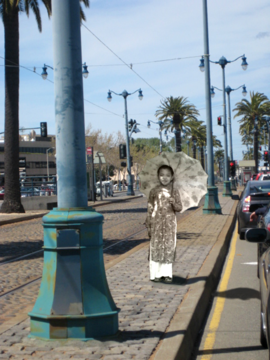 Ba Tam (Grandmother's youngest of 11 siblings), 1952 @ Embarcadero, San Francisco, 2011