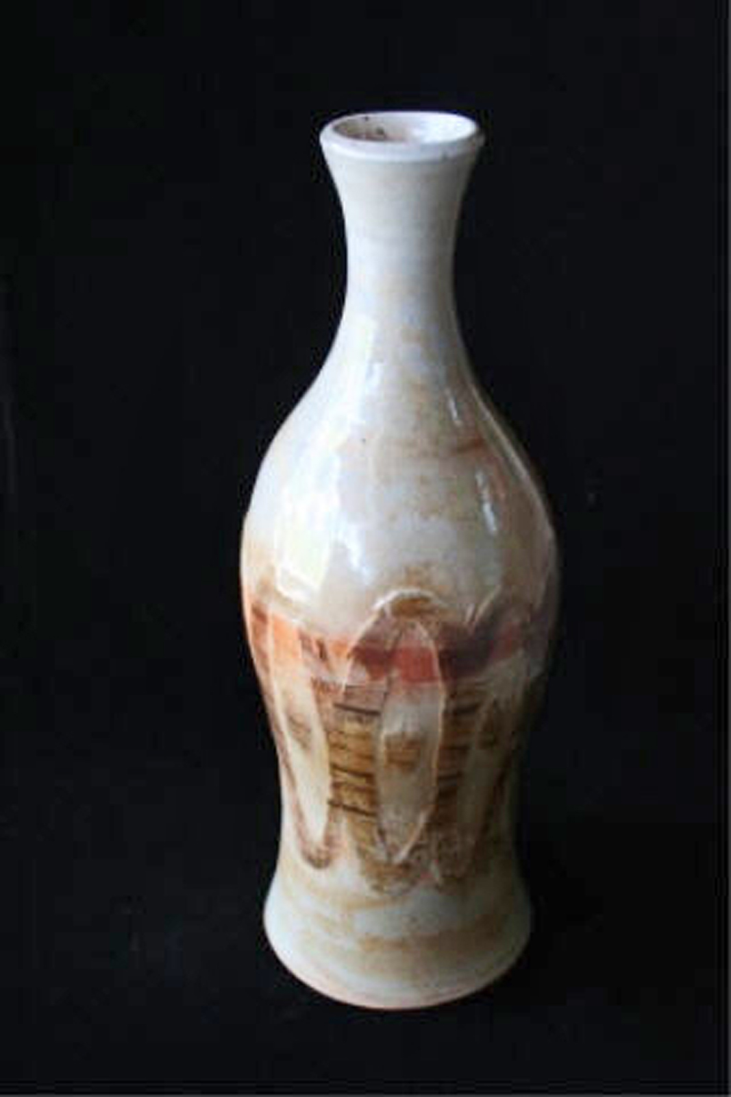 "Air in Rhythm  , 2003, wheel-thrown white stoneware Fired at cone 10 reduction, 13"" h x 4 1/2"" dia"