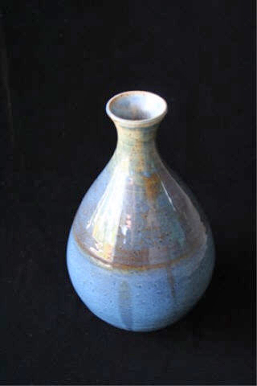 """One Blue Tear  , 2007, wheel-thrown stoneware Fired at cone 6 oxidation, 9"""" h x 5 1/2"""" diaCollection of Mr. Charles Muñoz, Naples, FL"""