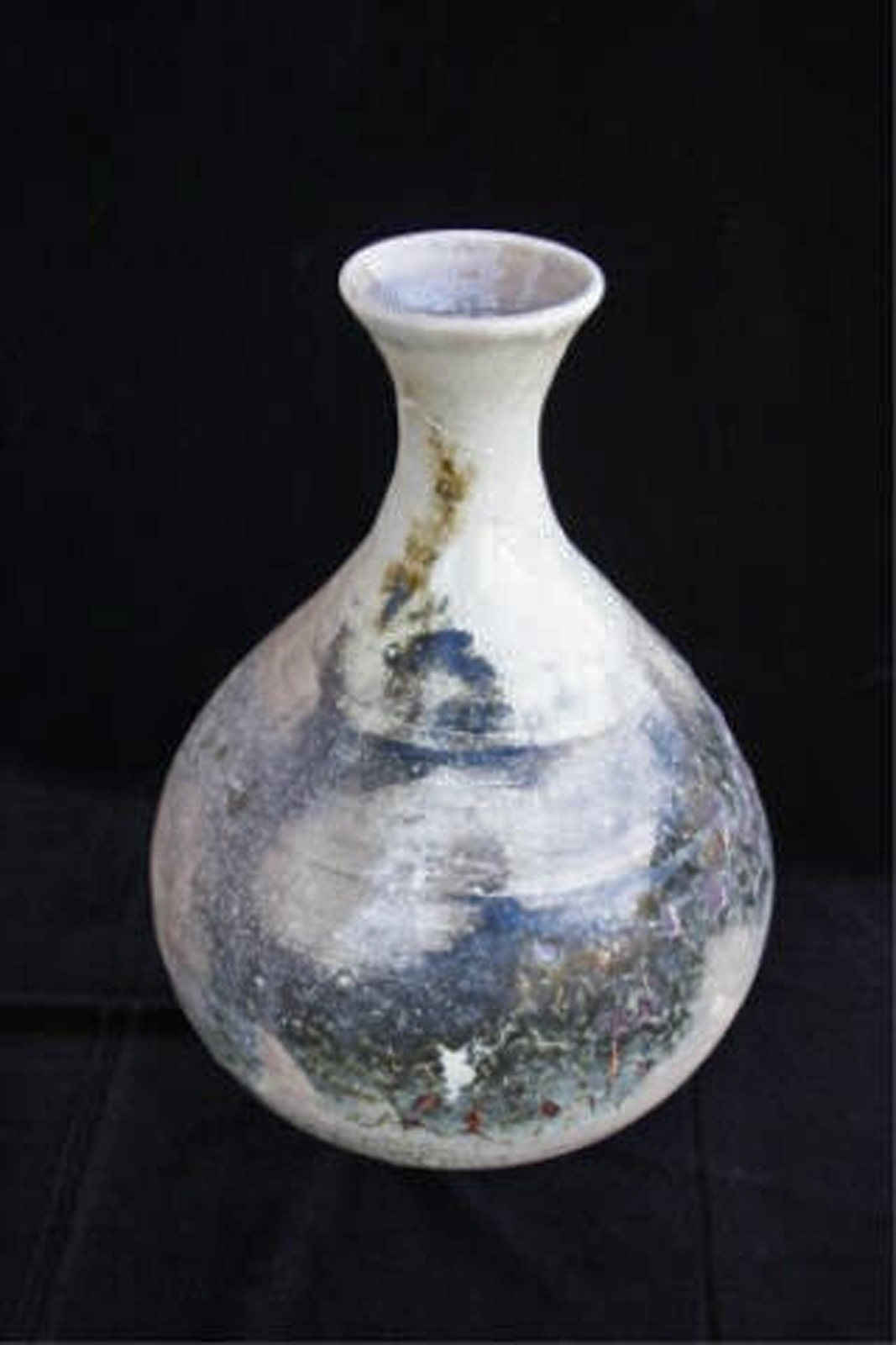 """The Smoke Clears  , 2003, wheel-thrown bentonite clay Fired at cone 10 reduction, 101/2"""" h x 7"""" dia"""