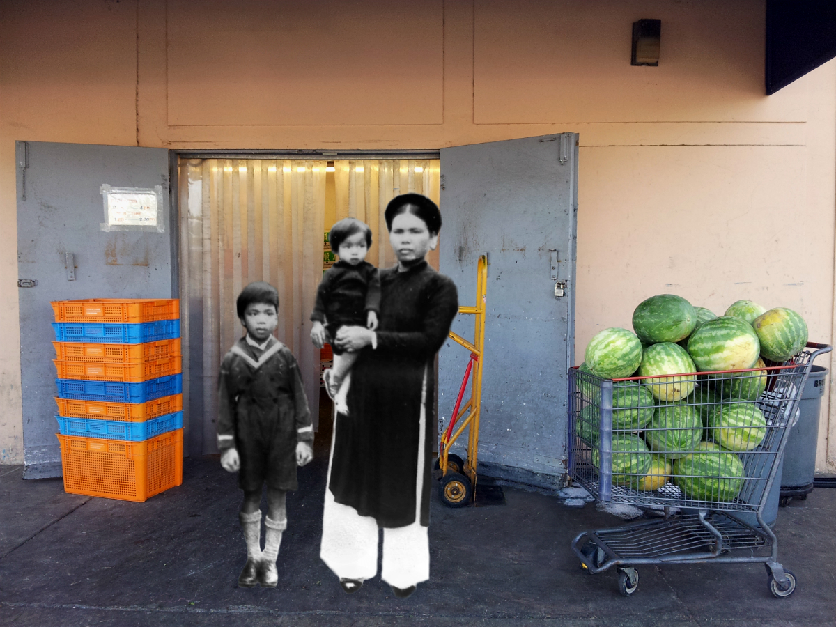 Bà Cố, Ông Hạnh, Ông Nghĩa (Great-grandmother with her sons), 1938 @ Westminster, CA 2012