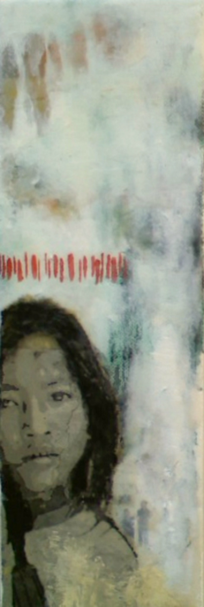 "Our Very Own (9th Child)  , 2011, mixed media, 12 x 4"", Collection of Mr. and Mrs. Dat and Thuy Tran, Santa Barbara, CA"