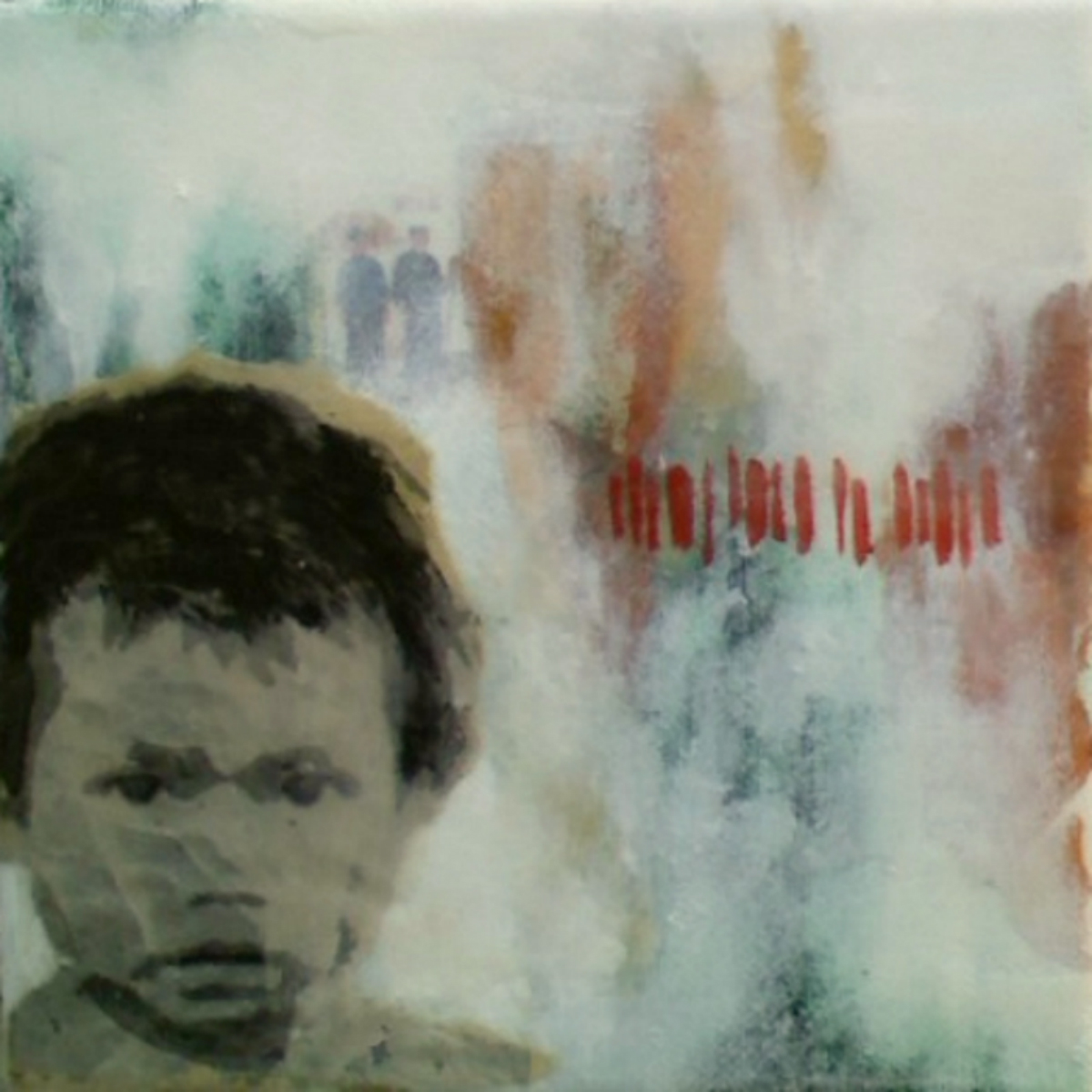 "Our Very Own (4th Child)  , 2011, Mixed media on canvas, 6 x 6"", Collection of Christopher Hest, New York, NY"