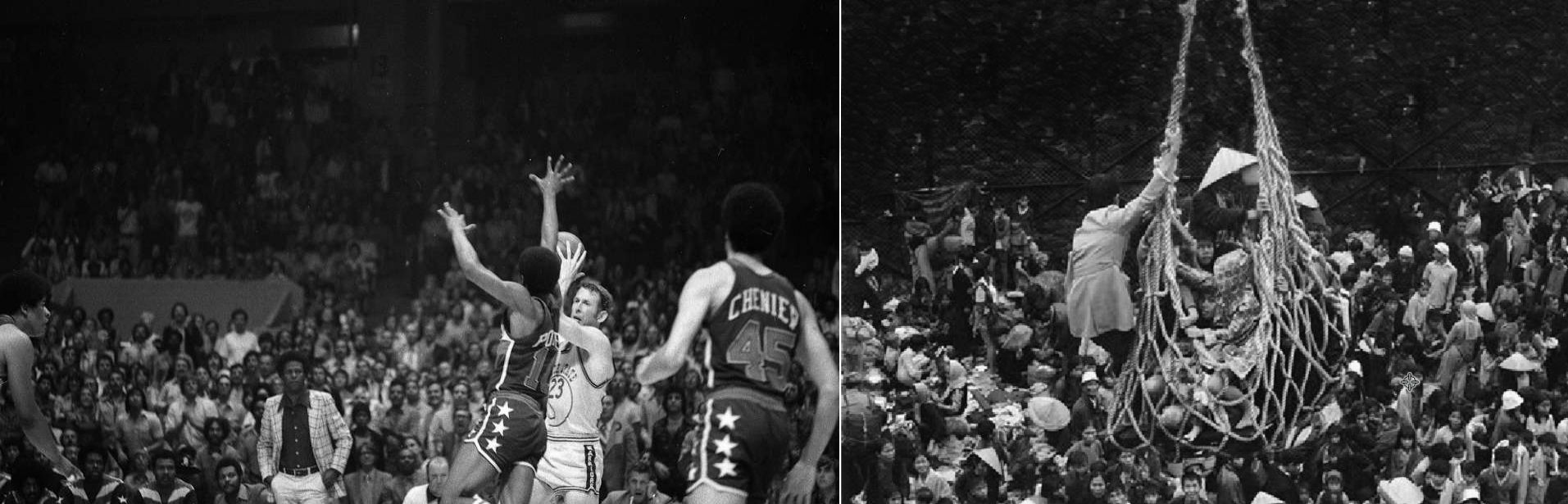 "1975: LEFT: GOLDEN STATE WARRIORS VS. THE WASHINGTON BULLETS IN THE NBA FINALS (VINCENT MAGGIORA, SAN FRANCISCO CHRONICLE)  1975: RIGHT: A CARGO NET LIFTS REFUGEES FROM A BARGE ONTO THE SS PIONEER CONTENDER FOR EVACUATION FROM THE FALLEN CITY OF          96               Normal   0           false   false   false     EN-US   X-NONE   X-NONE                                                                                                                                                                                                                                                                                                                                                                                                                                                                                                                                                                                                                                                                                                                                                                                                                                                                                  /* Style Definitions */ table.MsoNormalTable 	{mso-style-name:""Table Normal""; 	mso-tstyle-rowband-size:0; 	mso-tstyle-colband-size:0; 	mso-style-noshow:yes; 	mso-style-priority:99; 	mso-style-parent:""""; 	mso-padding-alt:0in 5.4pt 0in 5.4pt; 	mso-para-margin:0in; 	mso-para-margin-bottom:.0001pt; 	mso-pagination:widow-orphan; 	font-size:12.0pt; 	font-family:Calibri; 	mso-ascii-font-family:Calibri; 	mso-ascii-theme-font:minor-latin; 	mso-hansi-font-family:Calibri; 	mso-hansi-theme-font:minor-latin;}      Đà Nẵng, VIETNAM. it took EIGHT HOURS TO LOAD SOME 6,000 REFUGEES ABOARD THE SHIP. (AP/PETER O'LOUGHLIN)"