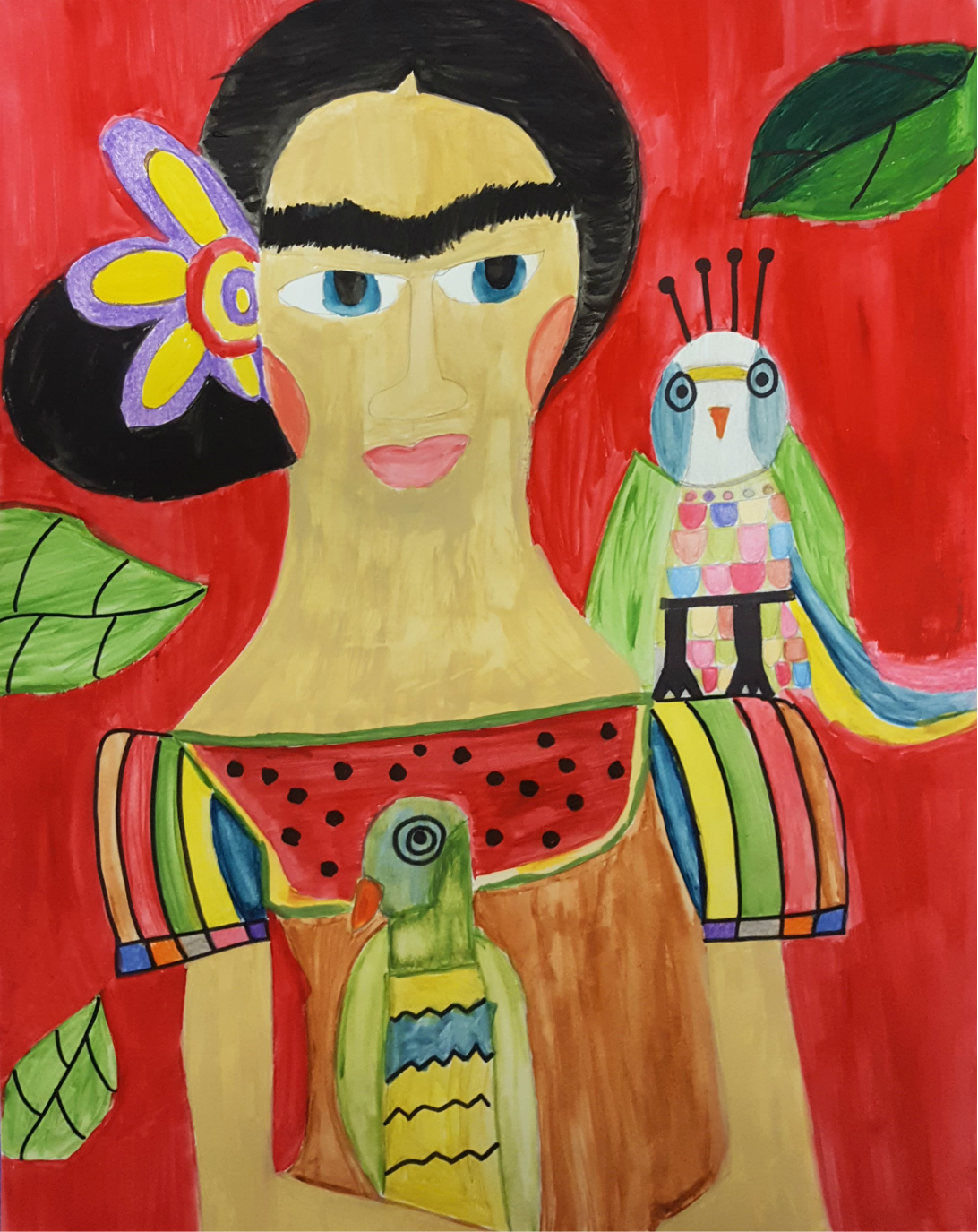 ONE OF DOZENS OF MARIA'S FRIDA PAINTINGS