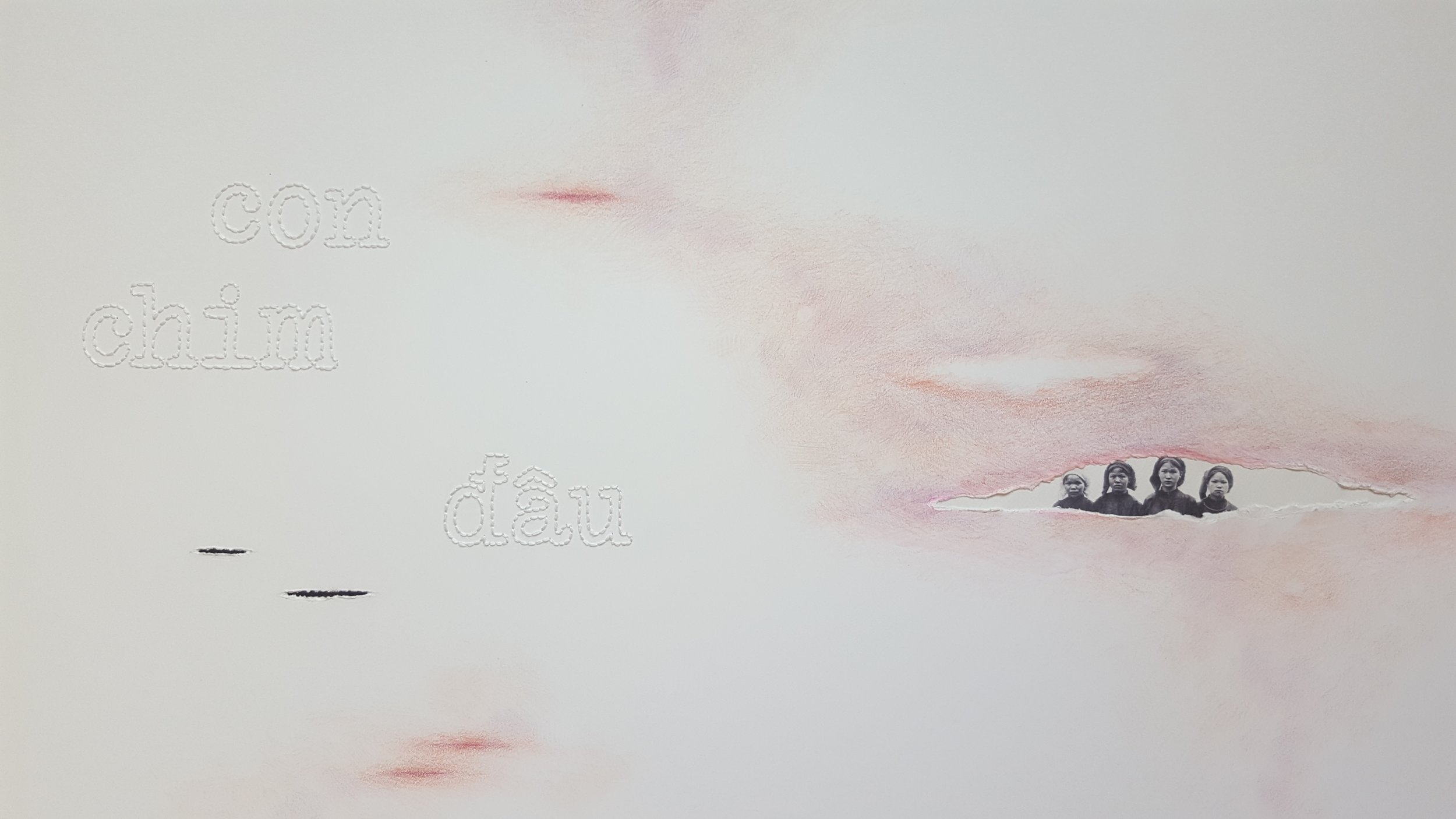 Con Chim Đâu (Where is the bird)  , 2018. Detail.