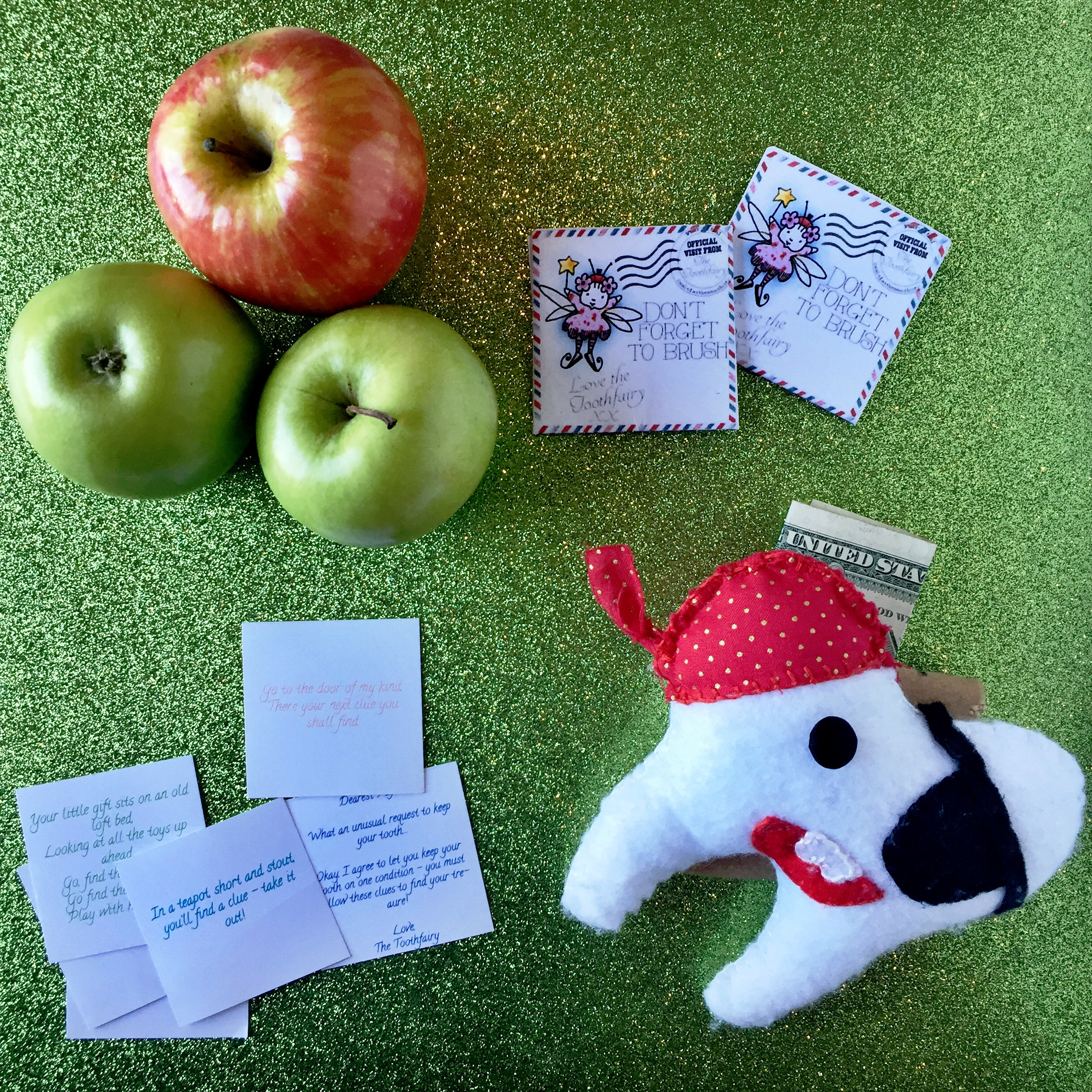 An apple a day may keep the doctor away, but it's bound to bring the Tooth Fairy at least once!