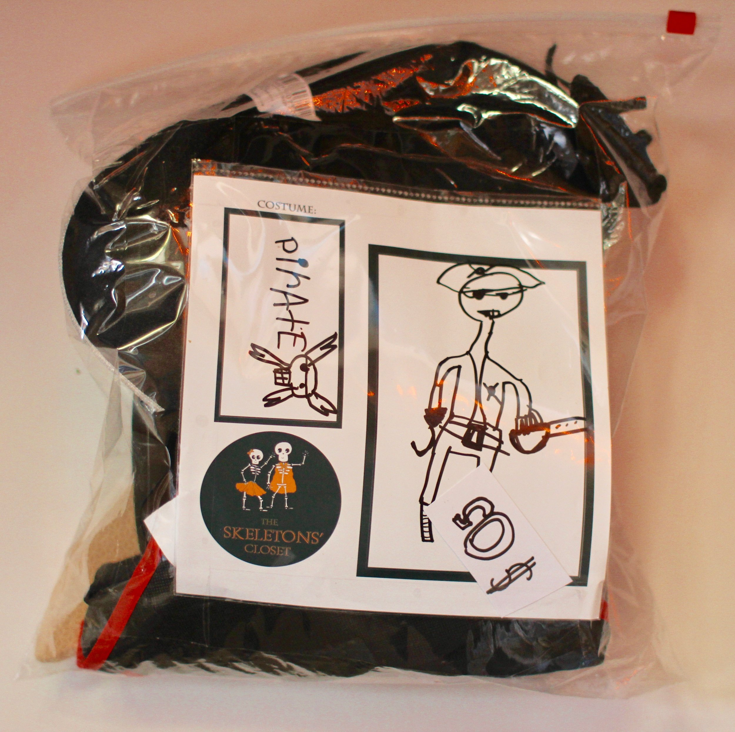 Pirates are a BIG deal around here.  Want to see what's inside this bag?