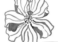 painted flower design by Marita Gentry