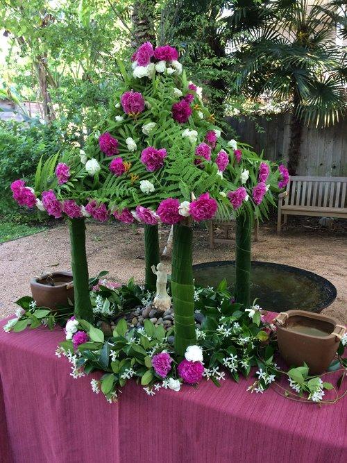 Birthday flower house