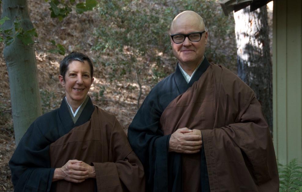 Rev. Shinchi Linda Galijan Roshi, and Rev. Zenshin Greg Fain Roshi