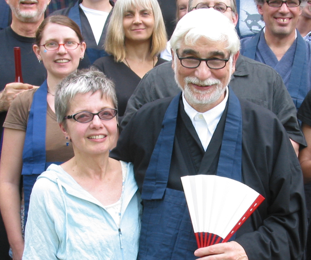 Kathy and Glen Duval at the conclusion of Glen's Shuso Ceremony