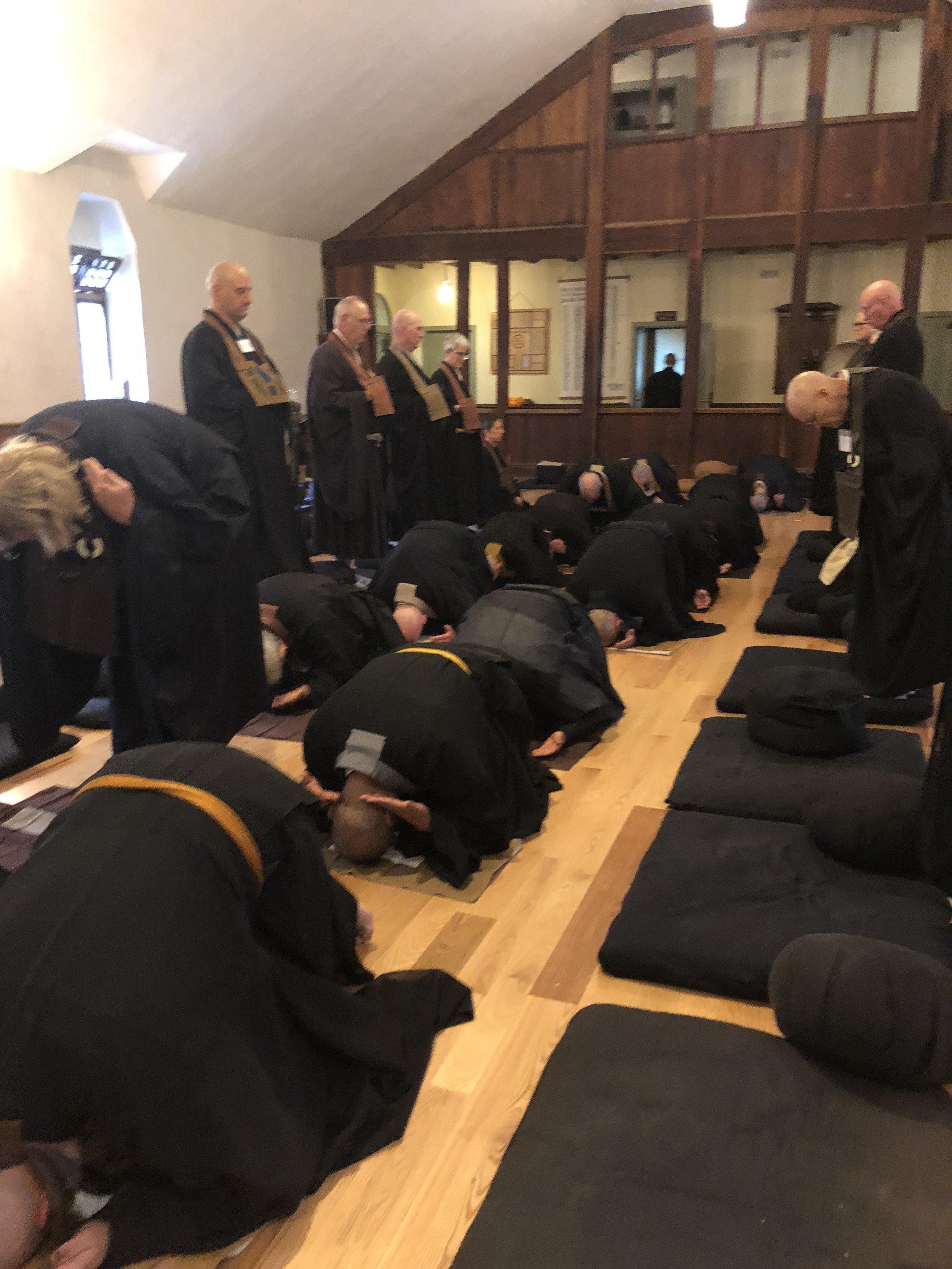 Zen Mountain Monastery - rehearsal for ceremony.