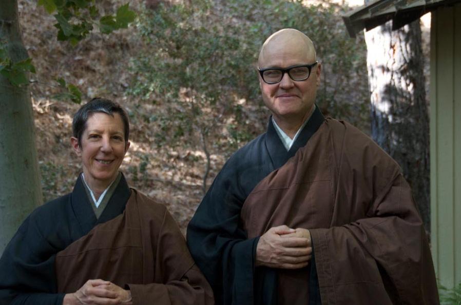 Linda Galijan Roshi and Greg Fain Roshi
