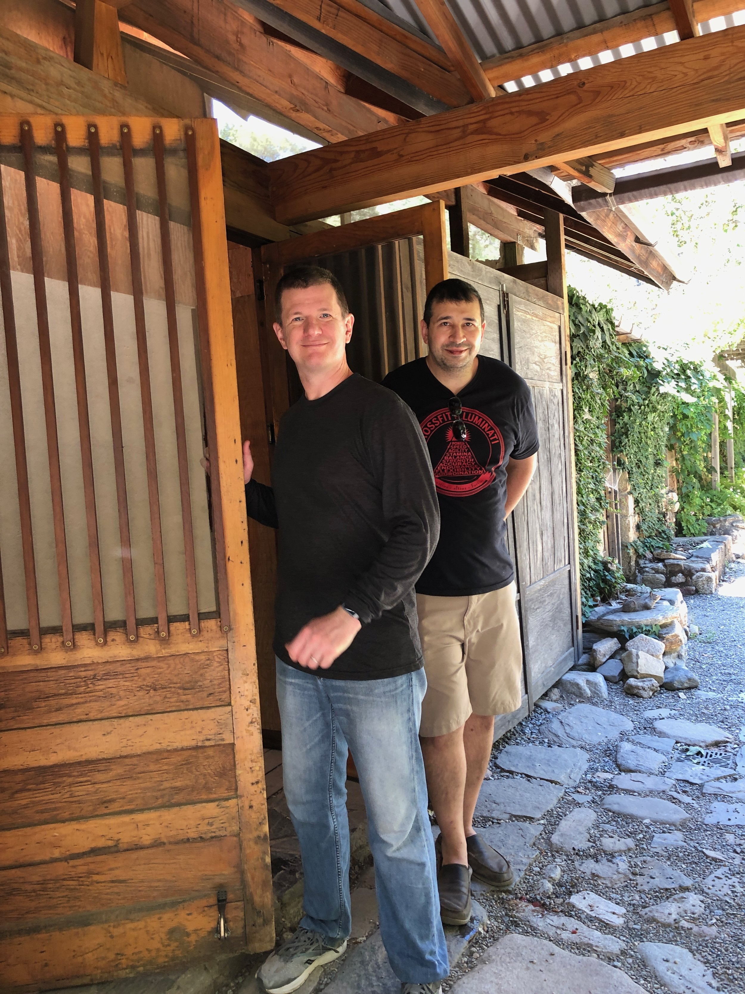 Kent Rutter and Zack Becker, Tassajara kitchen.